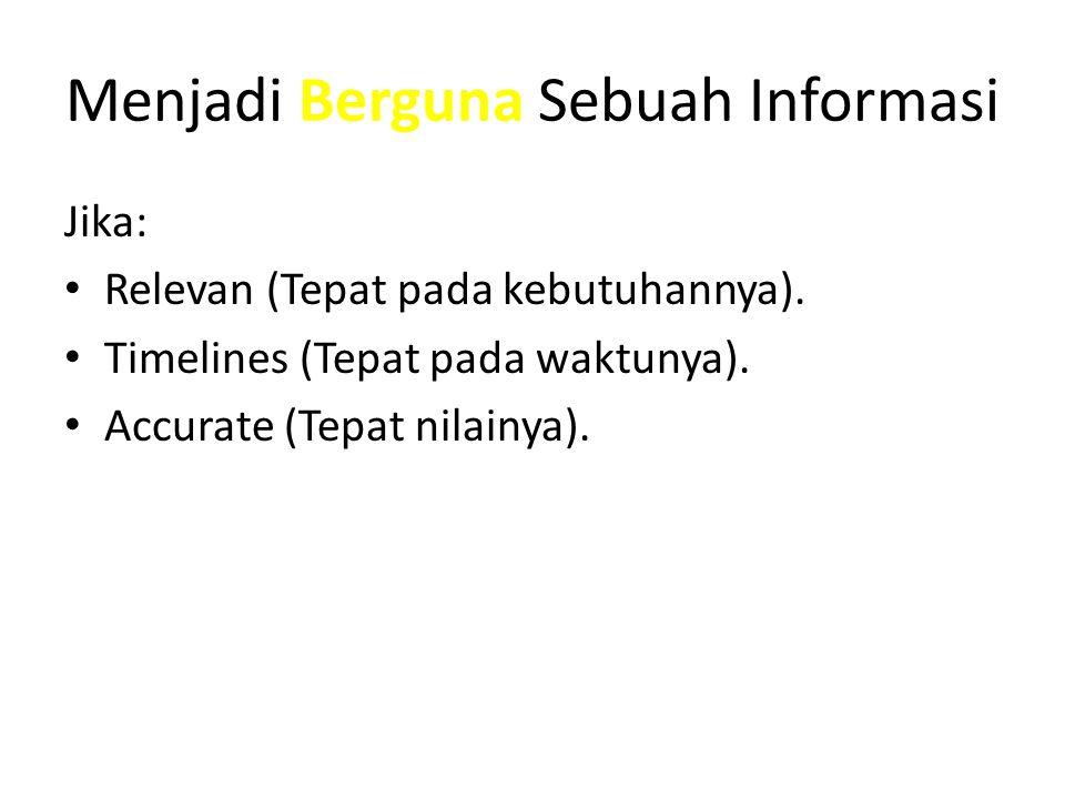 Menjadi Berguna Sebuah Informasi