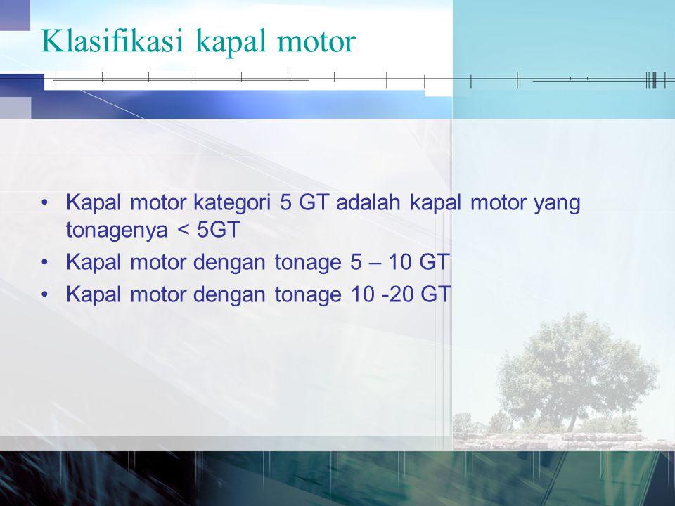 Klasifikasi kapal motor