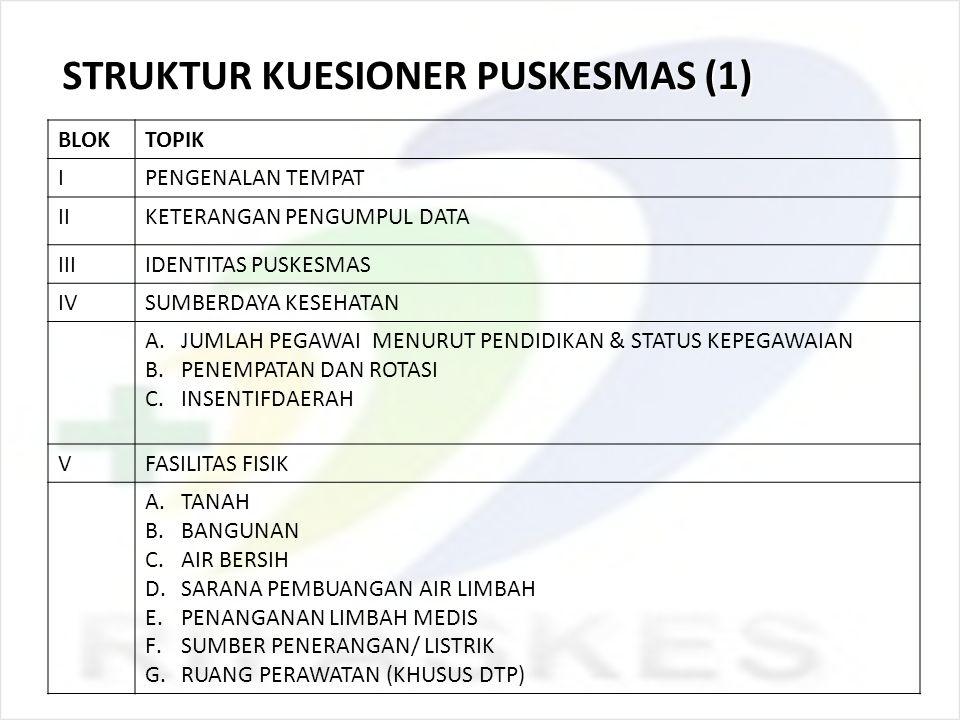 STRUKTUR KUESIONER PUSKESMAS (1)