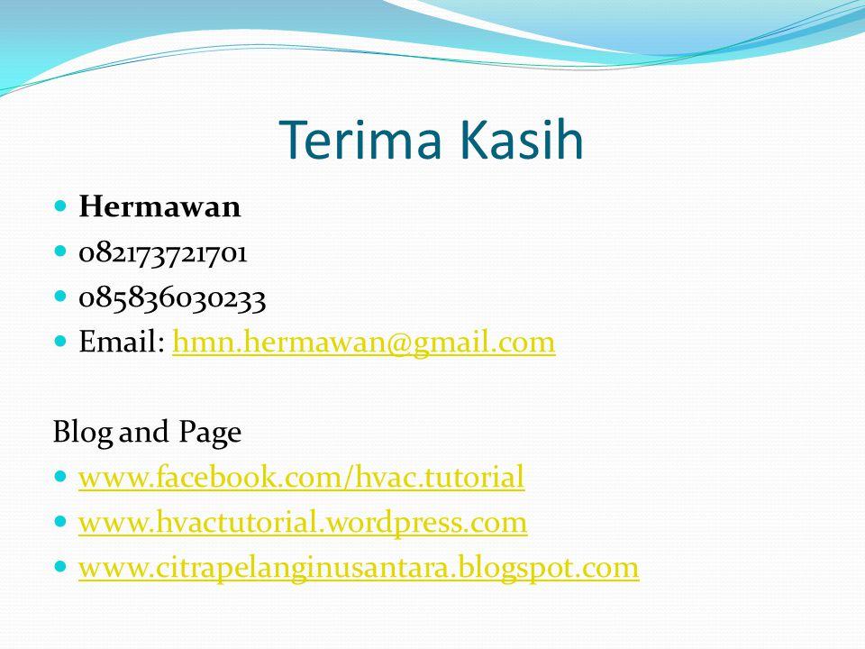 Terima Kasih Hermawan. 082173721701. 085836030233. Email: hmn.hermawan@gmail.com. Blog and Page.