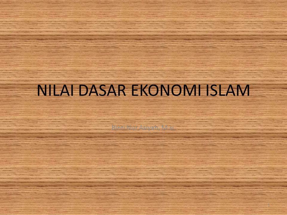 NILAI DASAR EKONOMI ISLAM