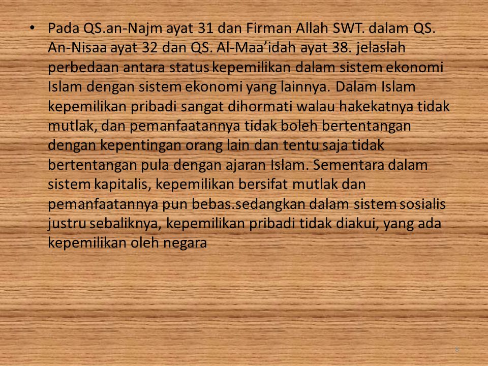 Pada QS. an-Najm ayat 31 dan Firman Allah SWT. dalam QS