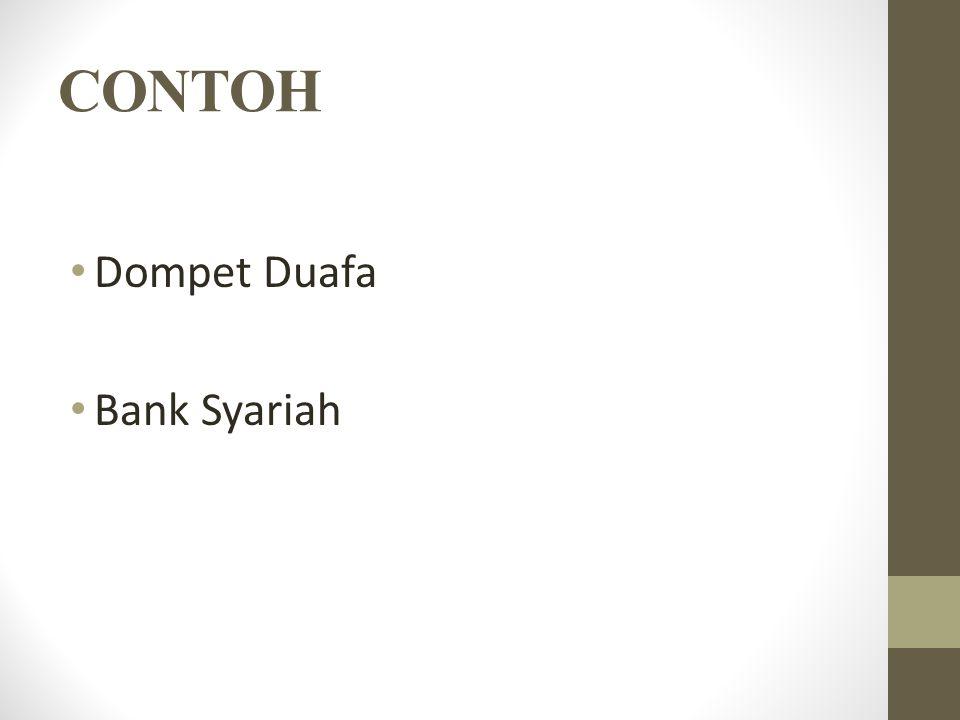 CONTOH Dompet Duafa Bank Syariah