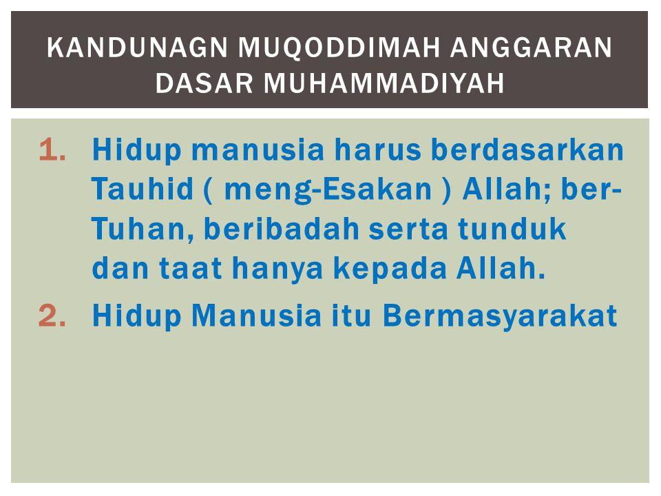 Kandunagn Muqoddimah anggaran dasar muhammadiyah