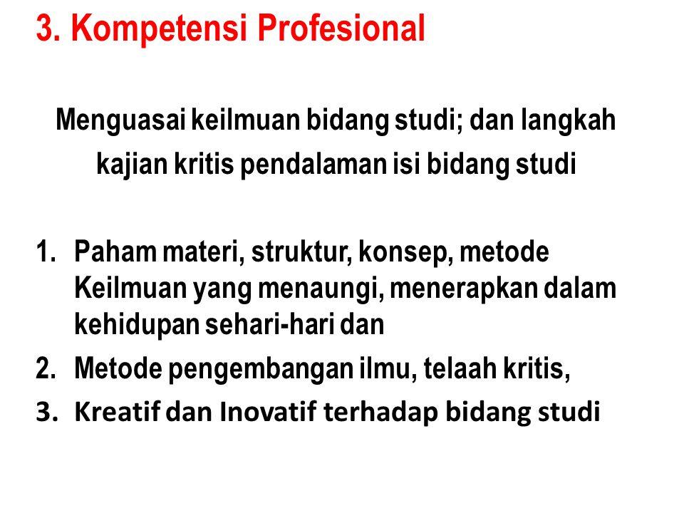 3. Kompetensi Profesional