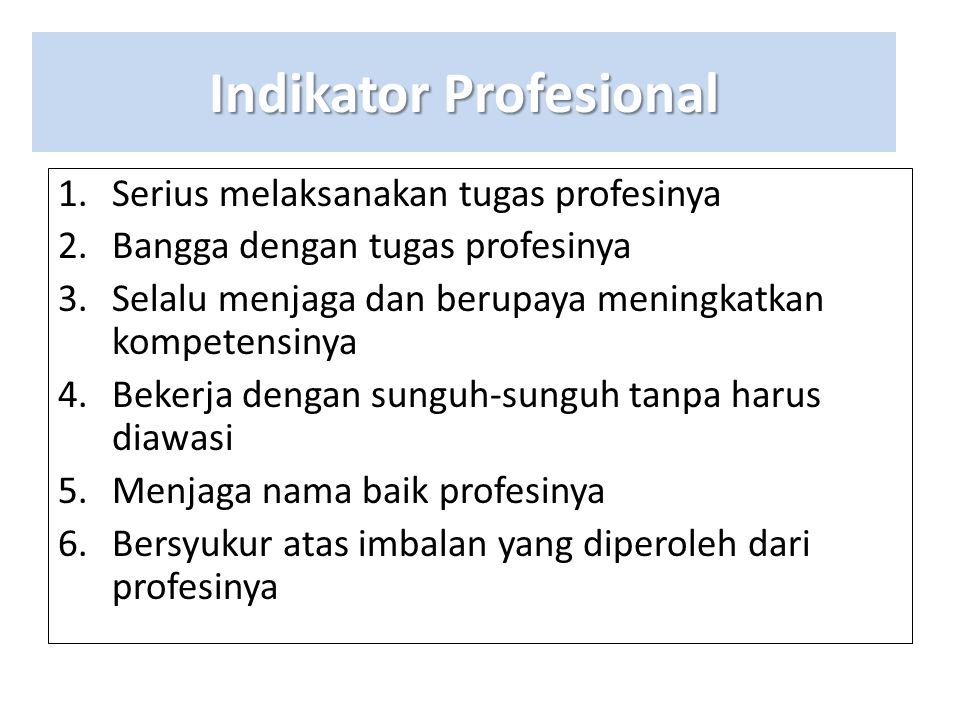 Indikator Profesional