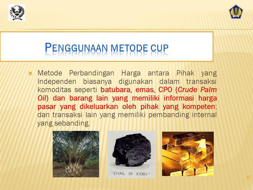 Penggunaan metode cup