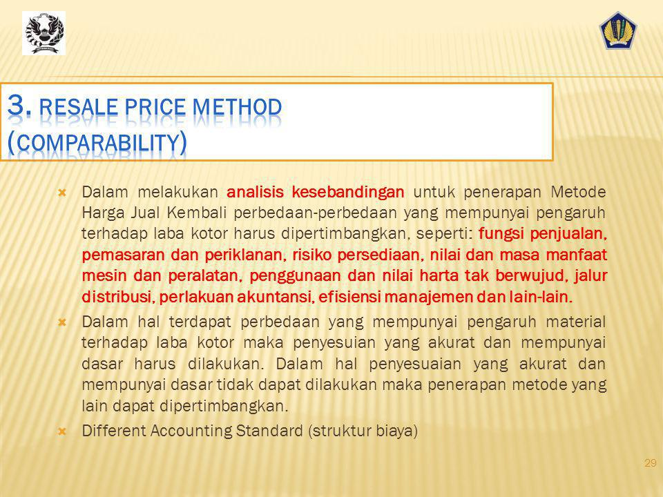 3. resale price method (comparability)