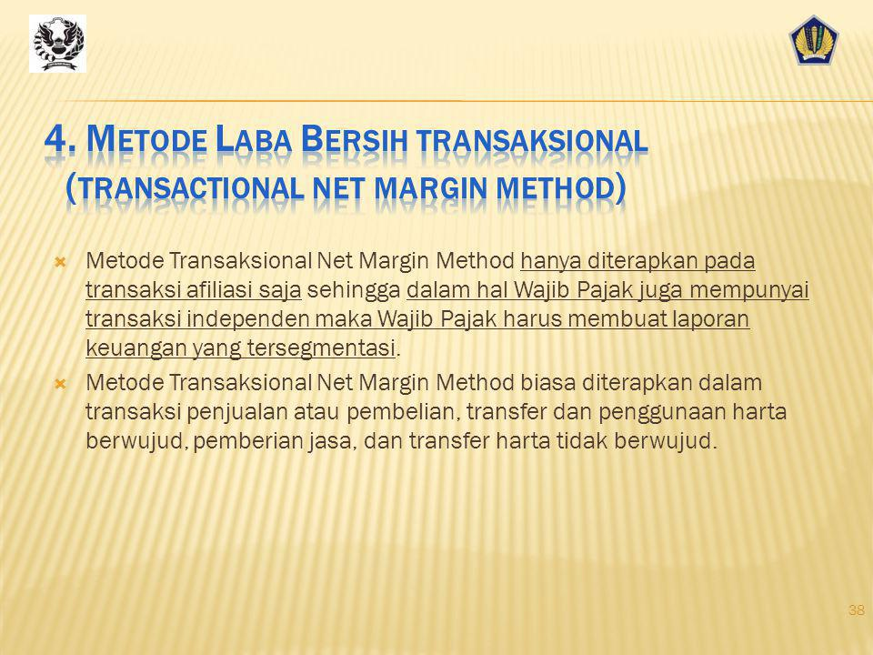 4. Metode Laba Bersih transaksional (transactional net margin method)