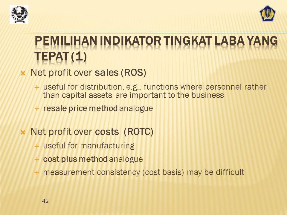Pemilihan Indikator Tingkat Laba yang tepat (1)