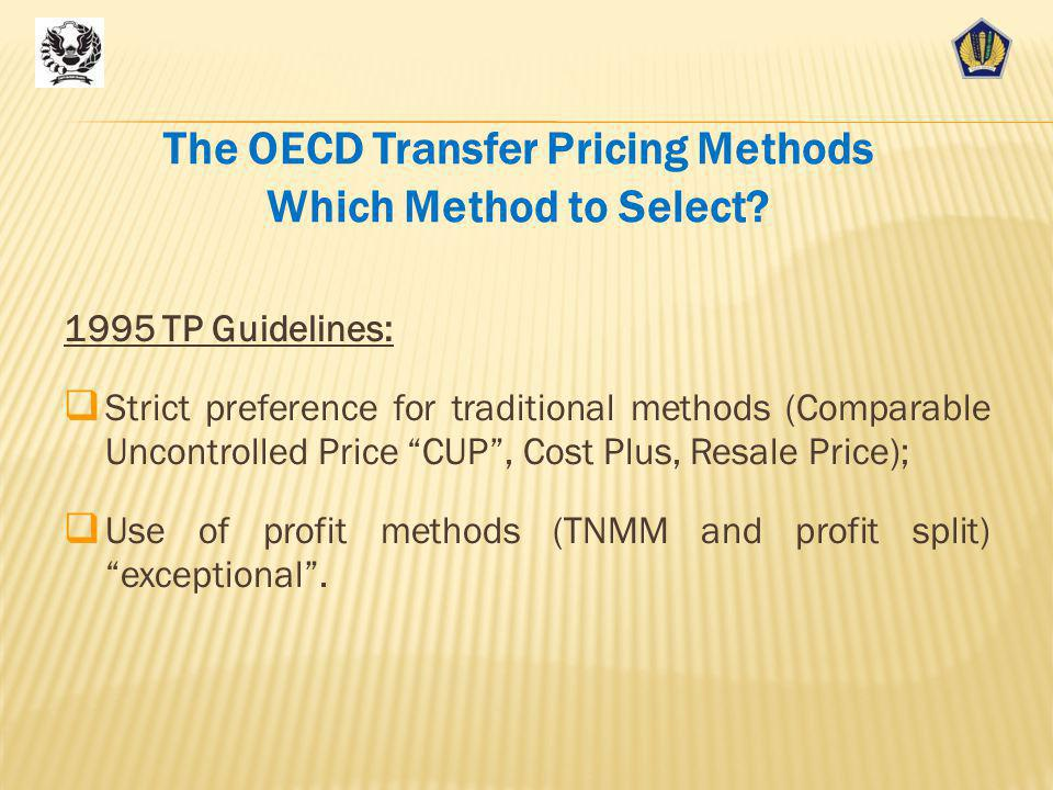 The OECD Transfer Pricing Methods