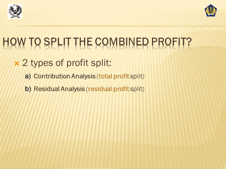 How to split the combined profit