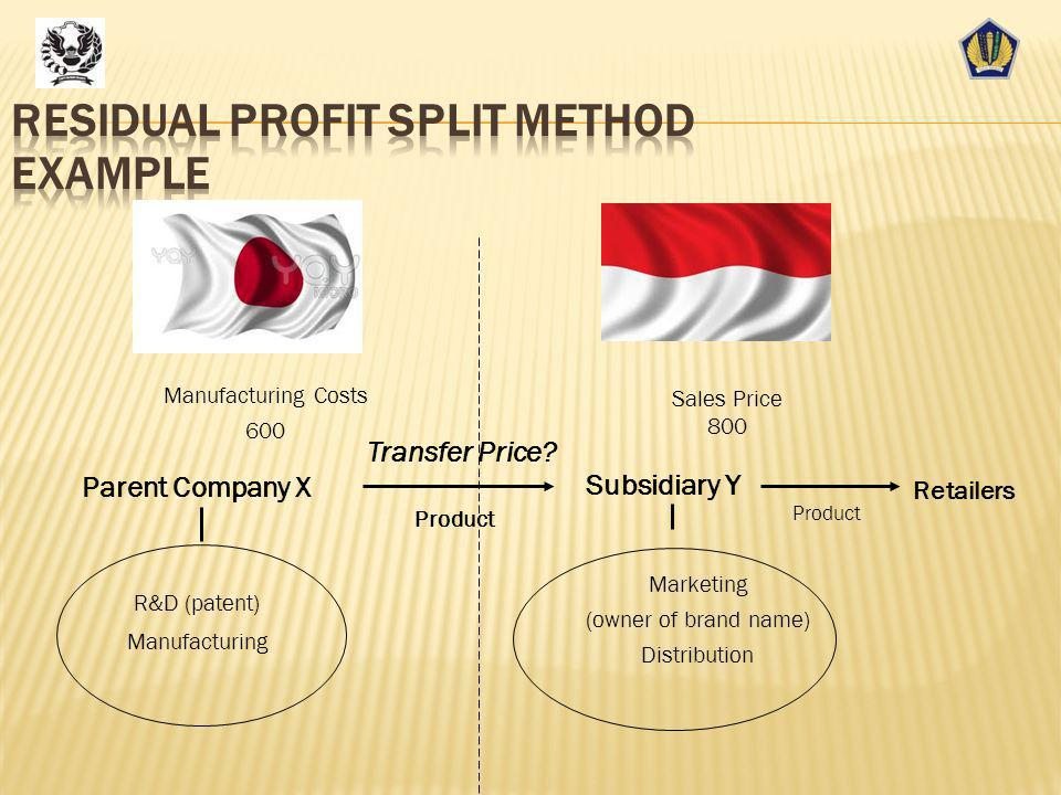 Residual Profit Split Method Example