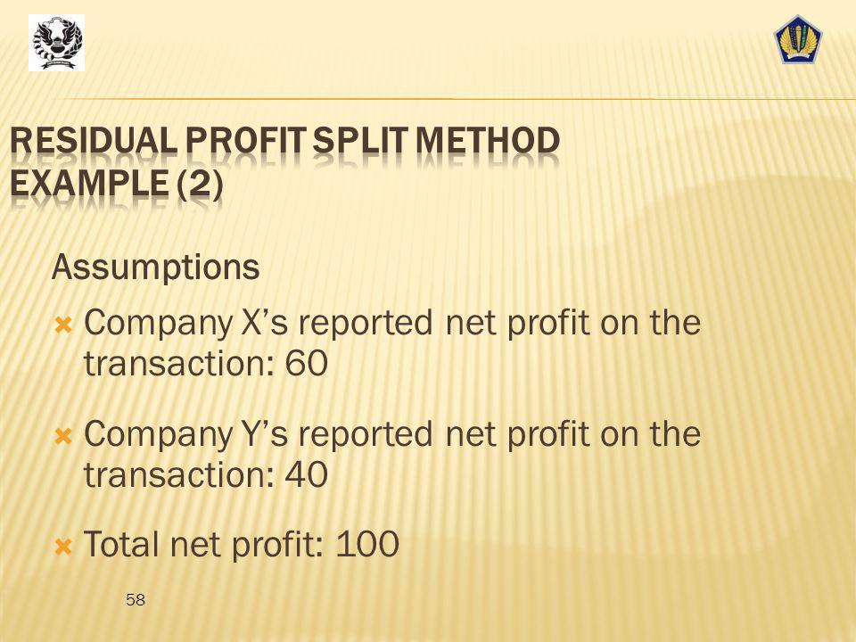 Residual Profit Split Method Example (2)