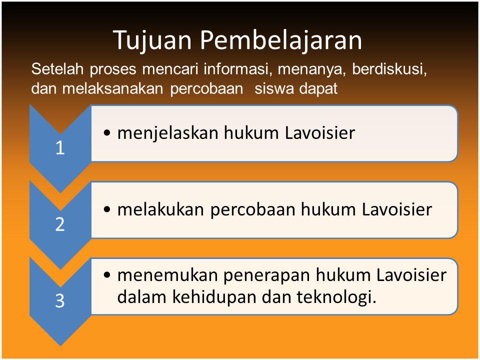 Tujuan Pembelajaran Setelah proses mencari informasi, menanya, berdiskusi, dan melaksanakan percobaan siswa dapat.