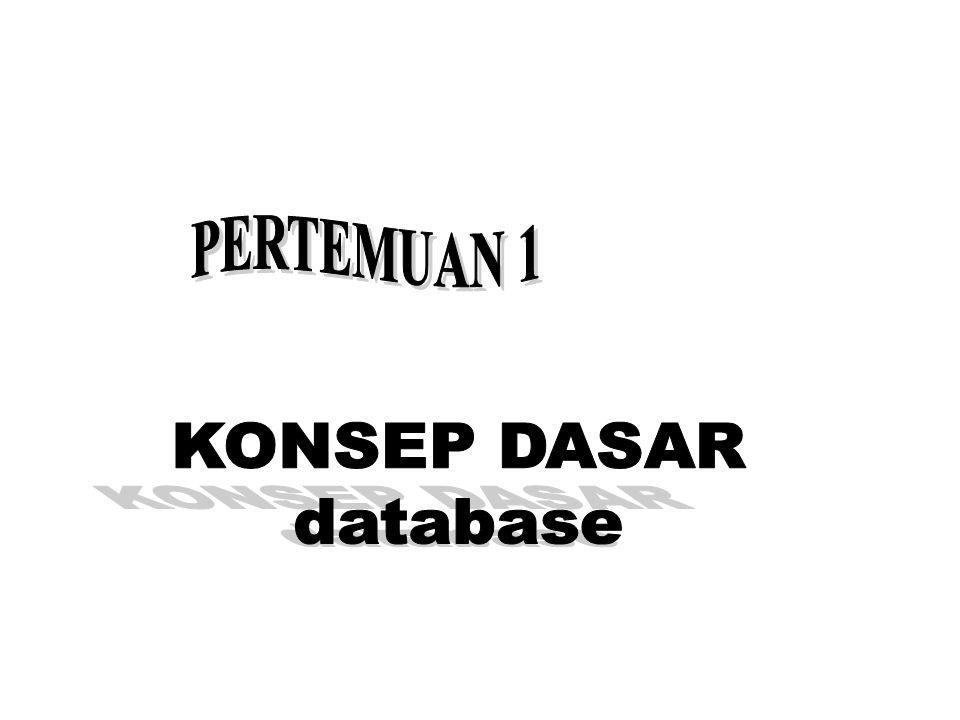 PERTEMUAN 1 KONSEP DASAR database