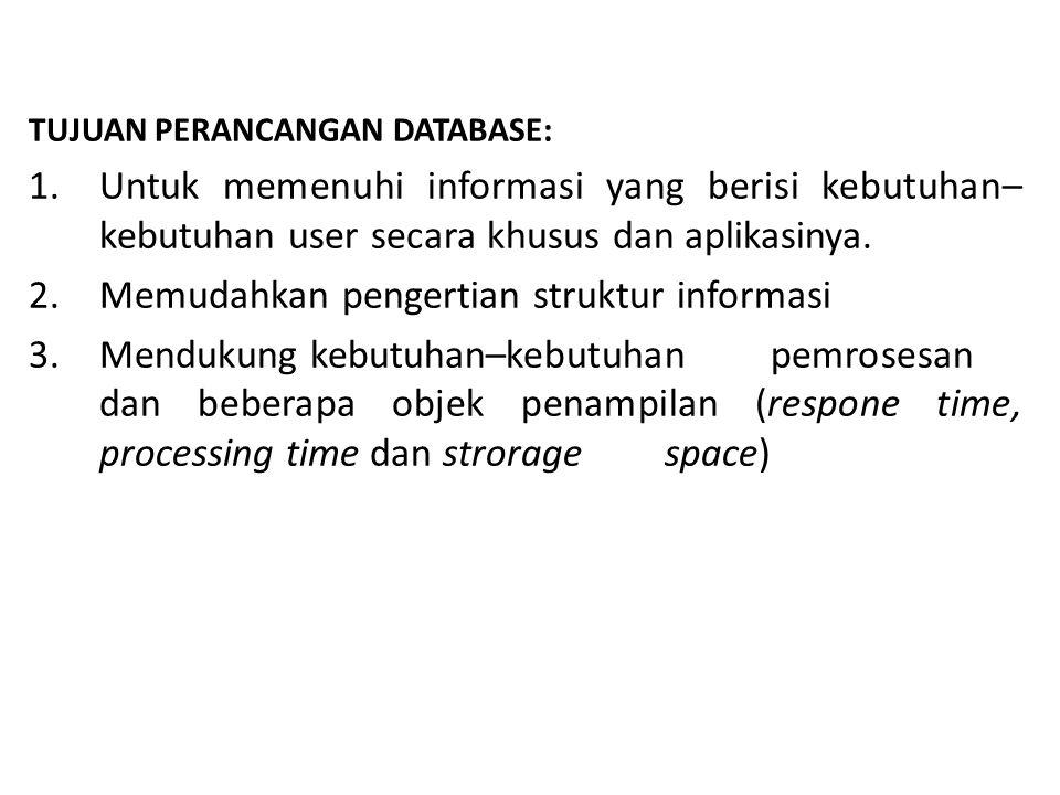 Memudahkan pengertian struktur informasi