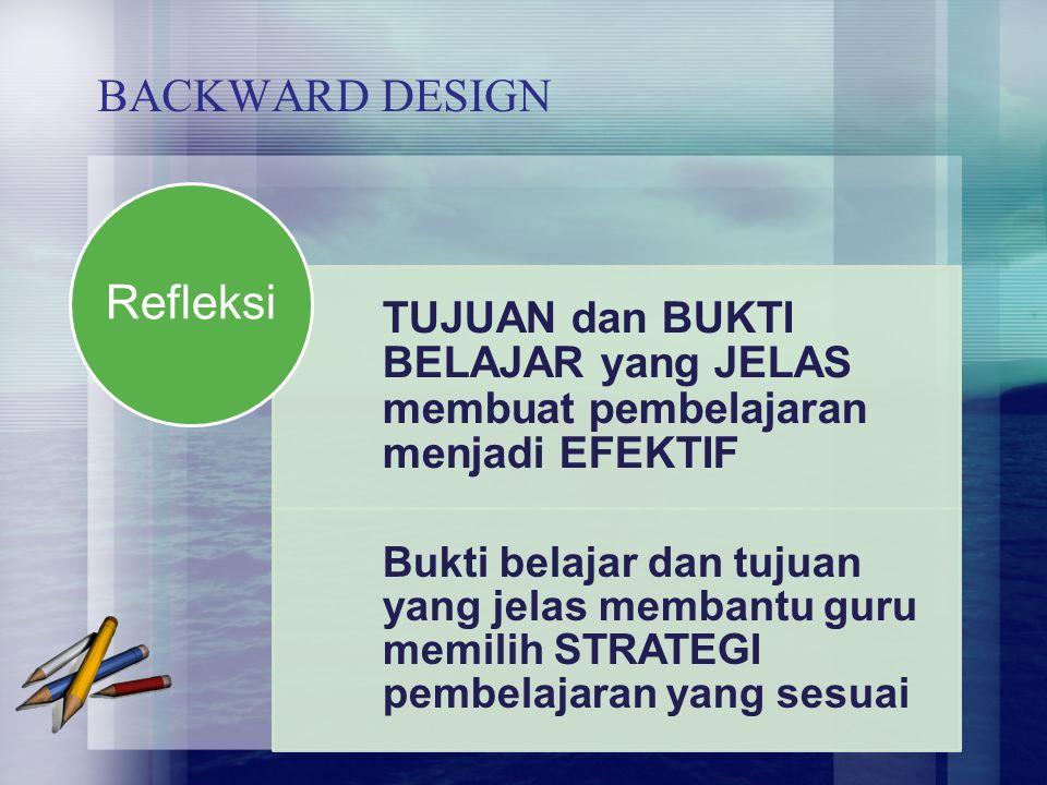 Refleksi BACKWARD DESIGN