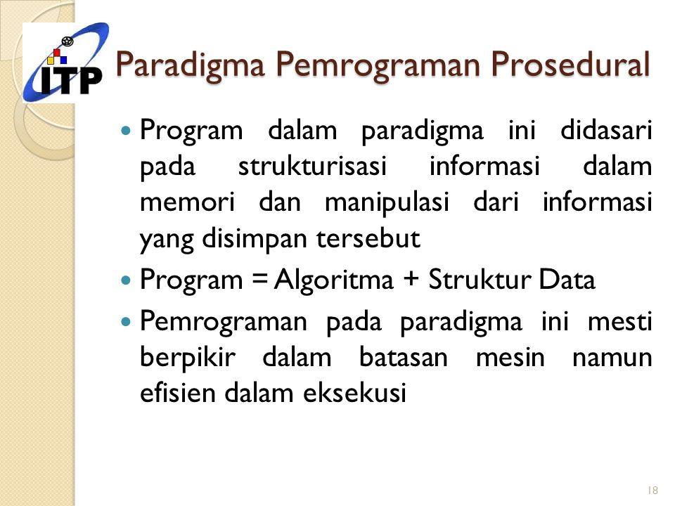 Paradigma Pemrograman Prosedural