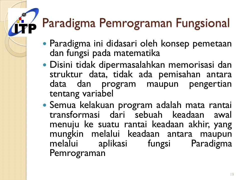 Paradigma Pemrograman Fungsional