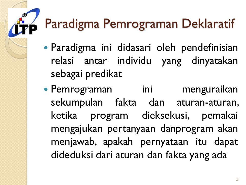 Paradigma Pemrograman Deklaratif