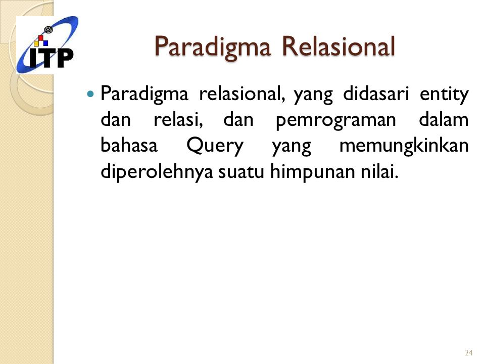 Paradigma Relasional