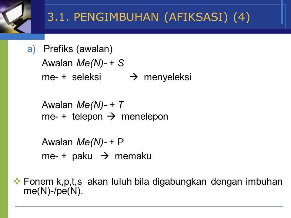 3.1. PENGIMBUHAN (AFIKSASI) (4)