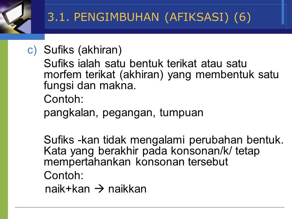 3.1. PENGIMBUHAN (AFIKSASI) (6)