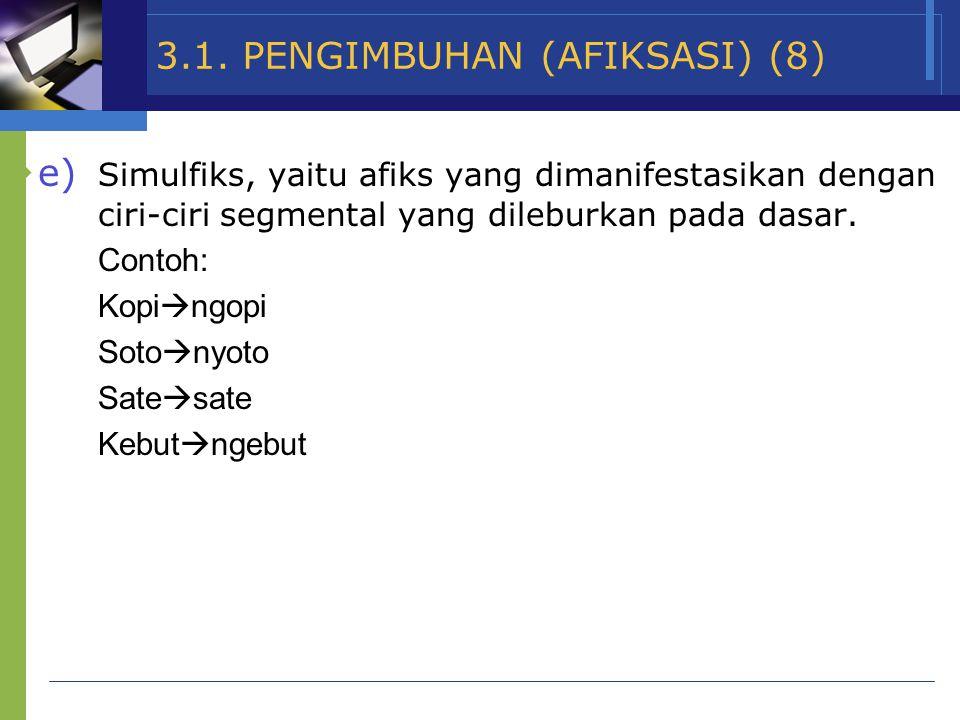 3.1. PENGIMBUHAN (AFIKSASI) (8)
