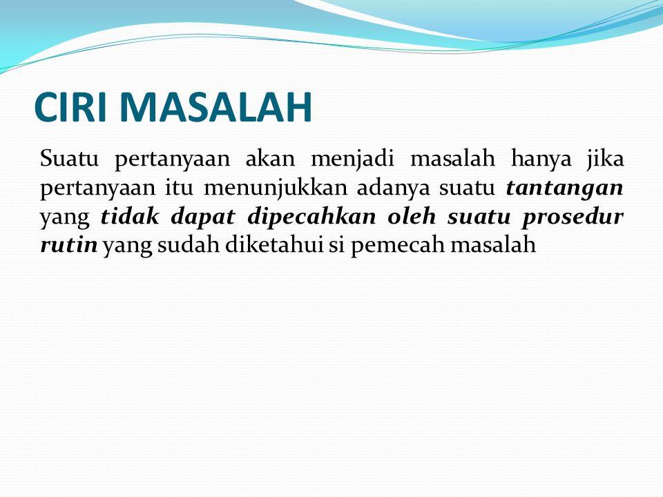 CIRI MASALAH