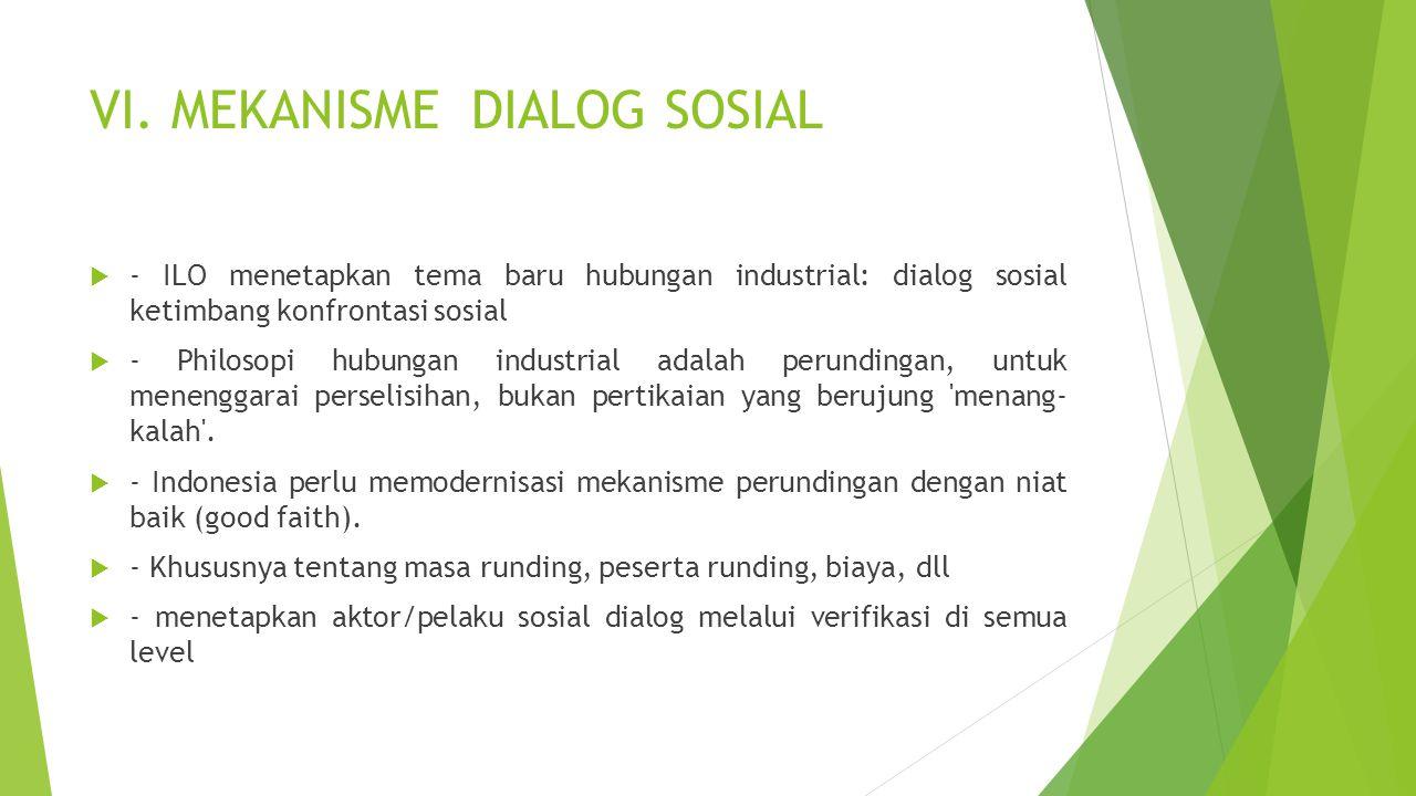 VI. MEKANISME DIALOG SOSIAL