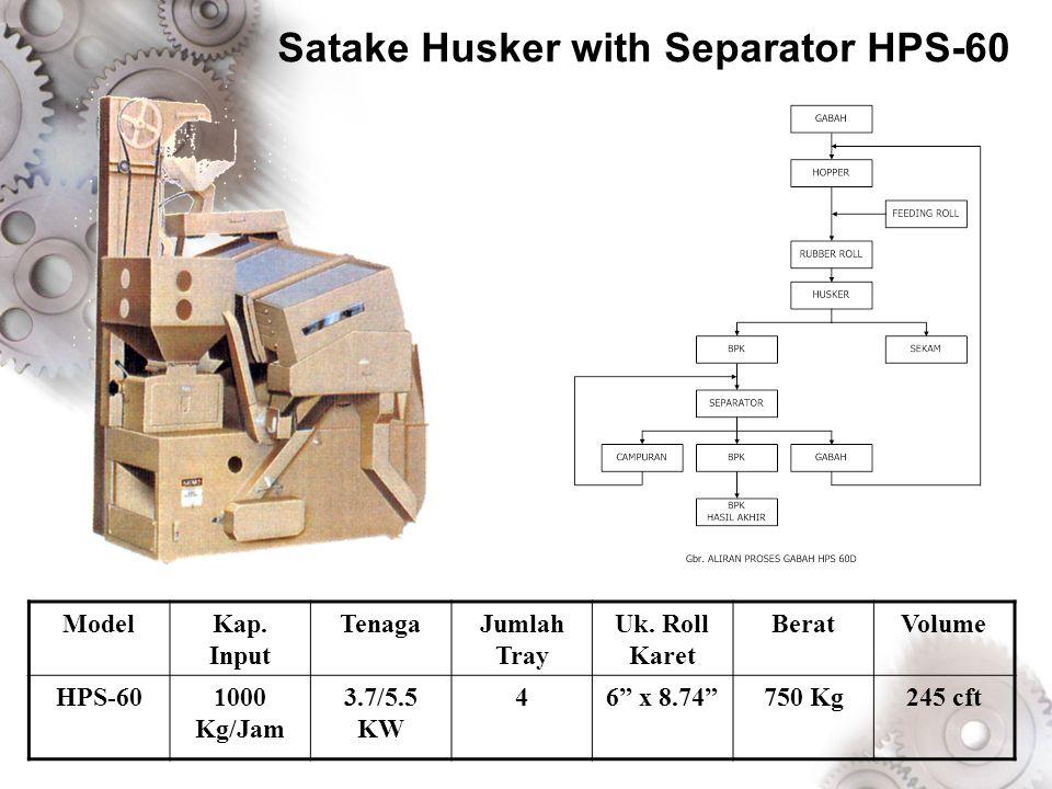 Satake Husker with Separator HPS-60