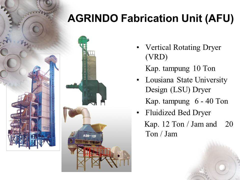 AGRINDO Fabrication Unit (AFU)