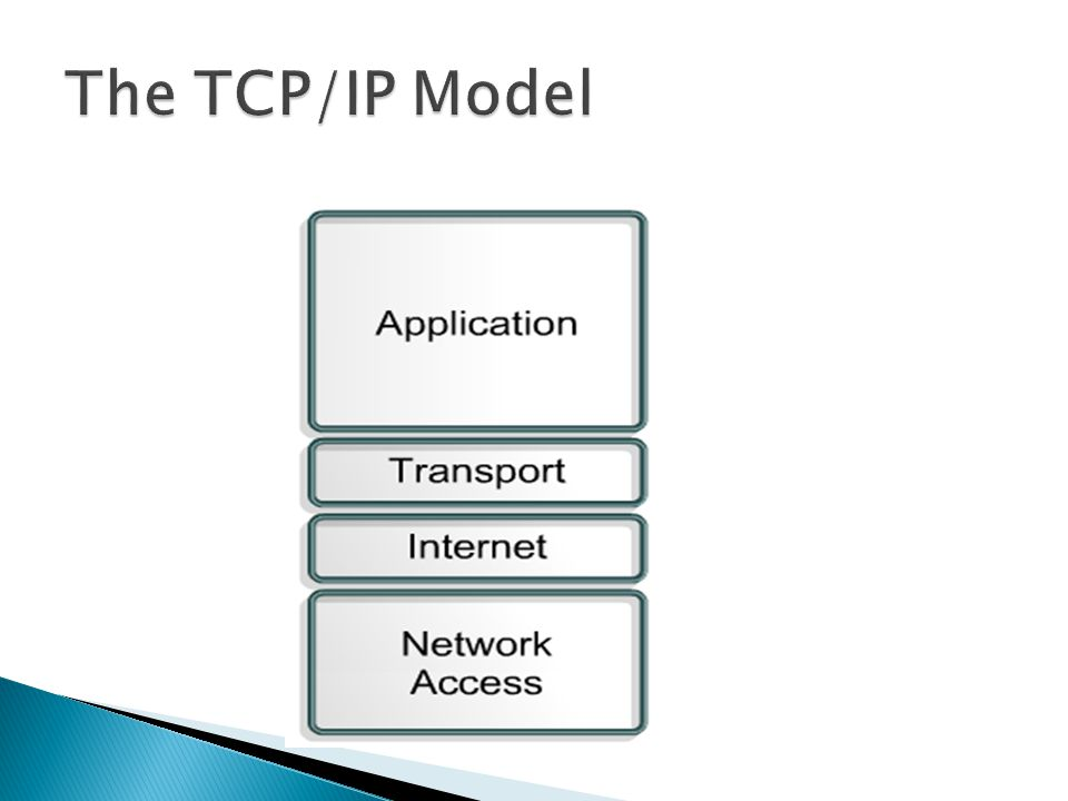 The TCP/IP Model