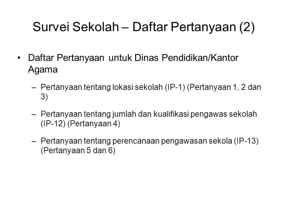 Survei Sekolah – Daftar Pertanyaan (2)