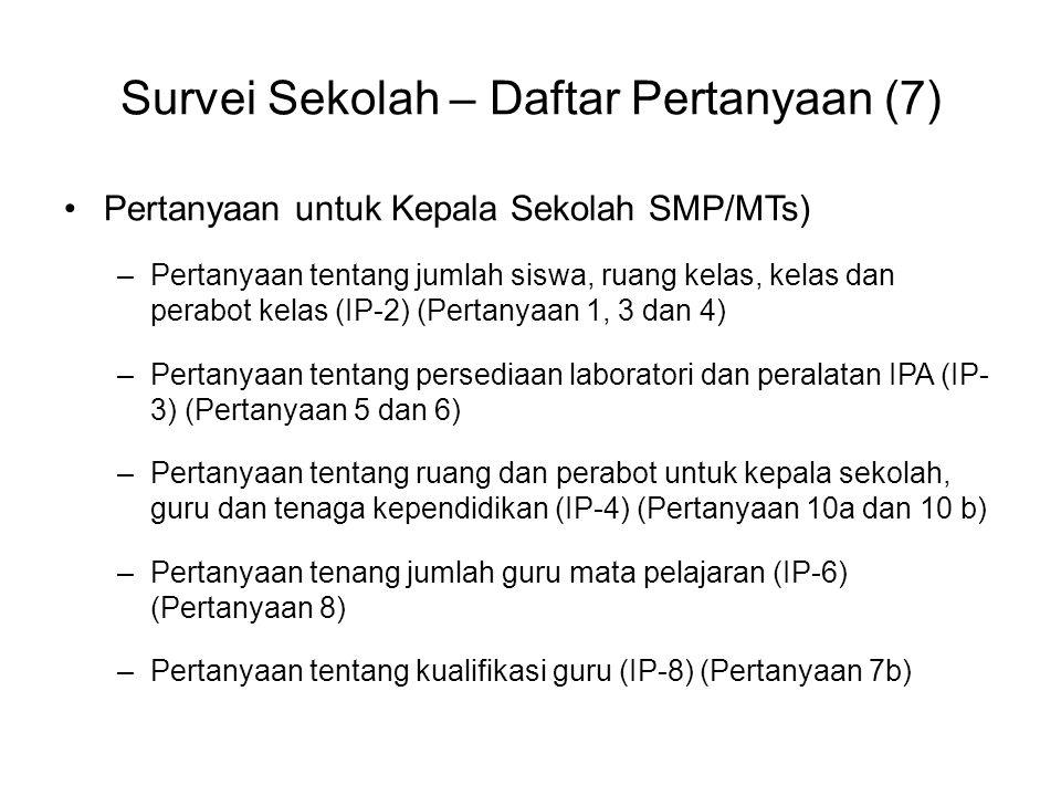Survei Sekolah – Daftar Pertanyaan (7)