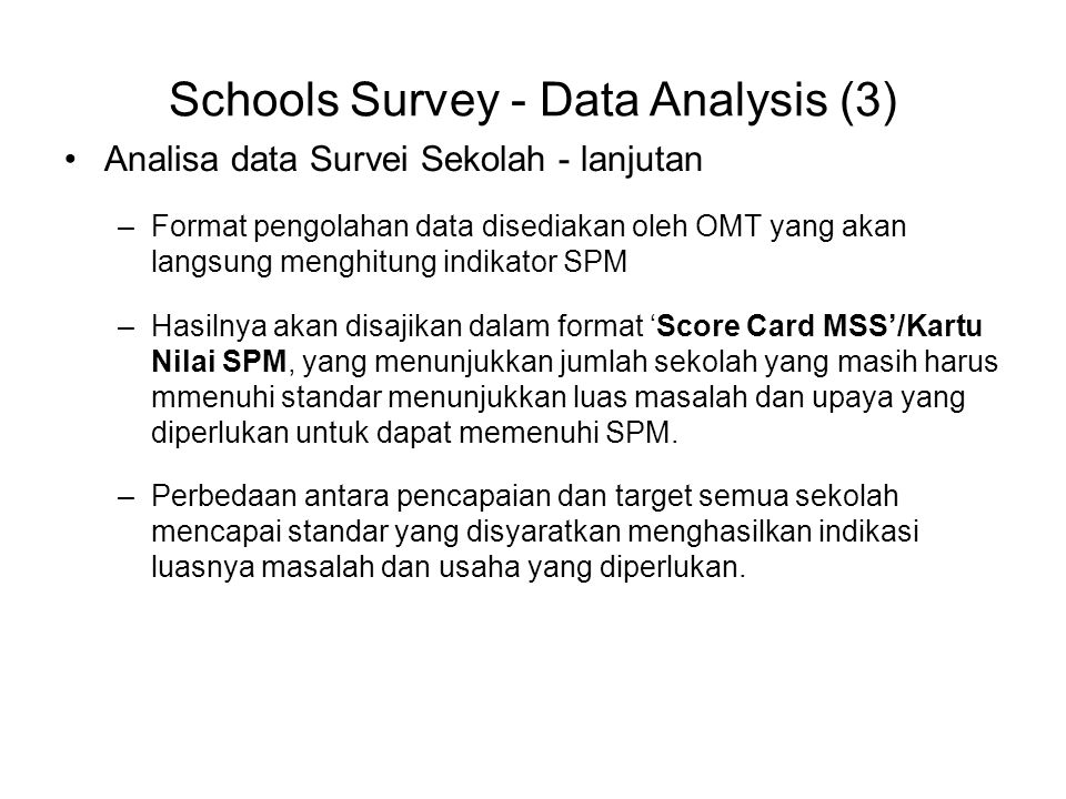 Schools Survey - Data Analysis (3)
