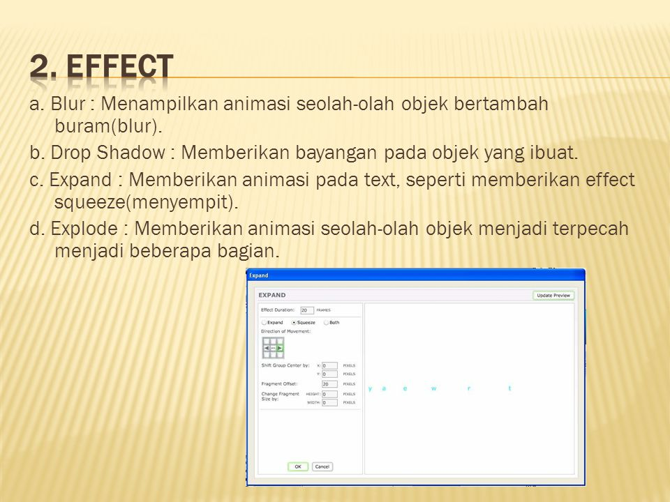 2. Effect