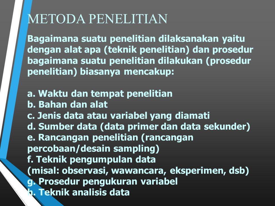 METODA PENELITIAN