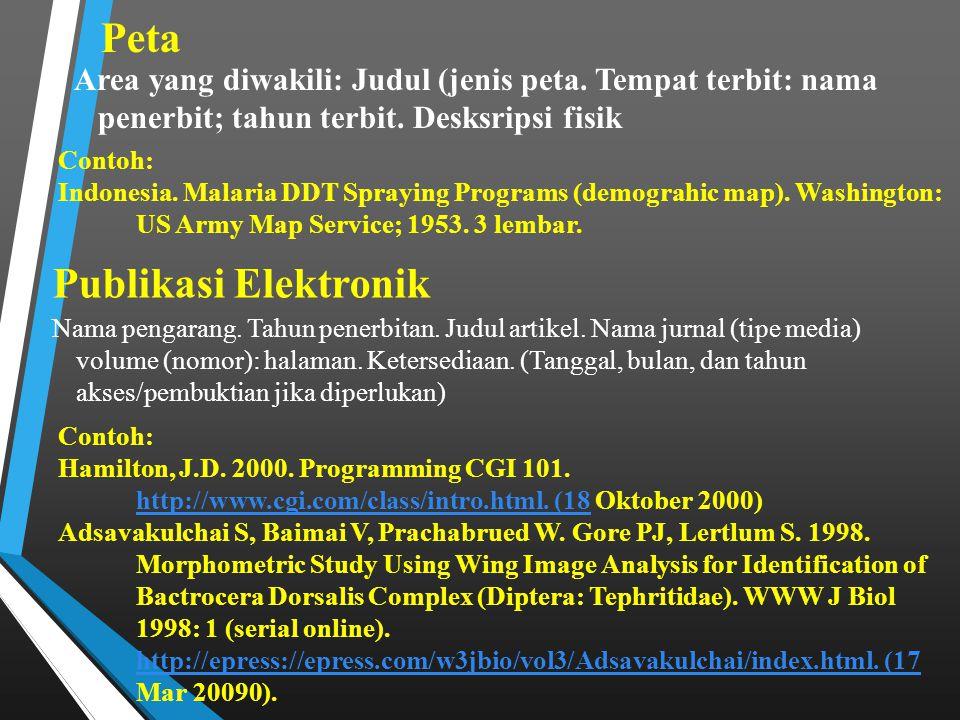 Peta Publikasi Elektronik