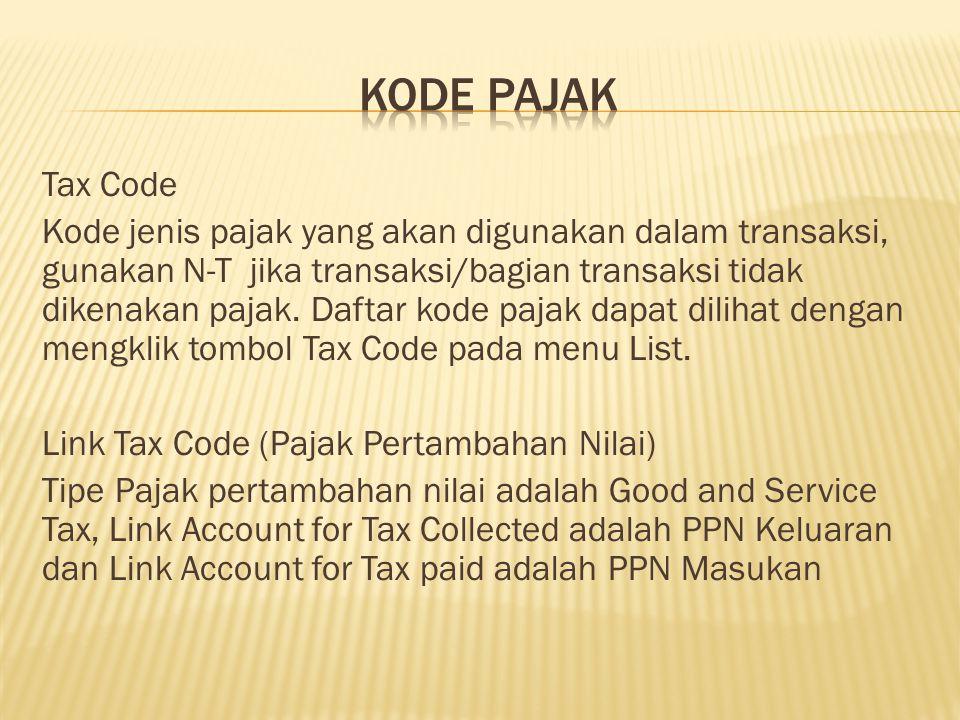 Kode pajak