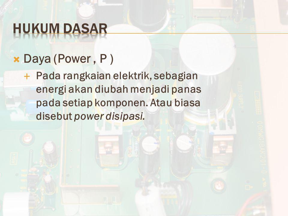 Hukum Dasar Daya (Power , P )