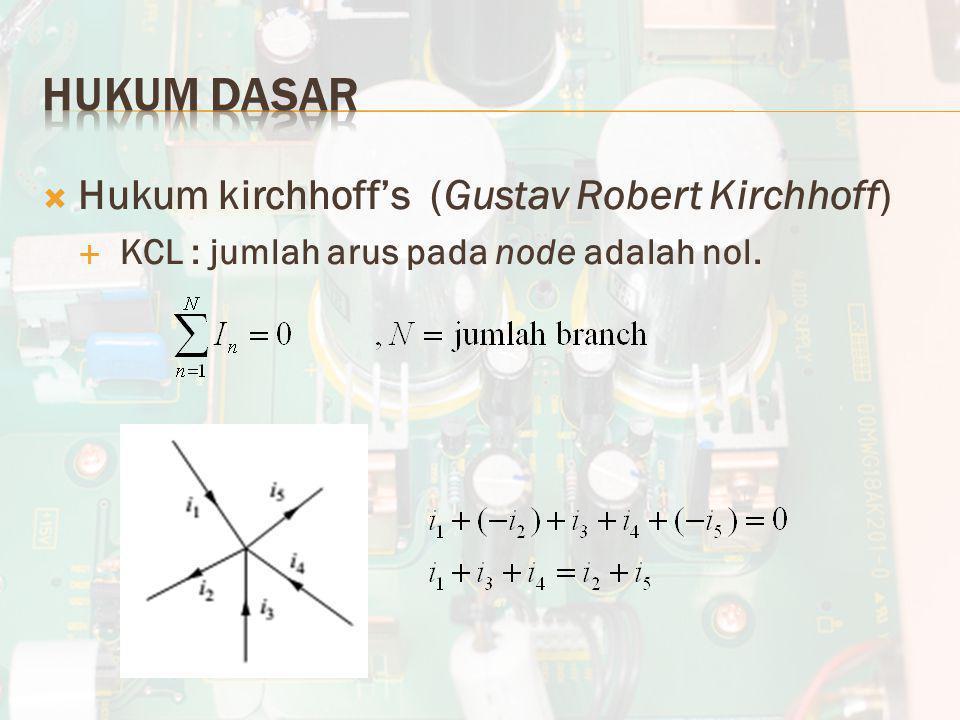 Hukum Dasar Hukum kirchhoff's (Gustav Robert Kirchhoff)