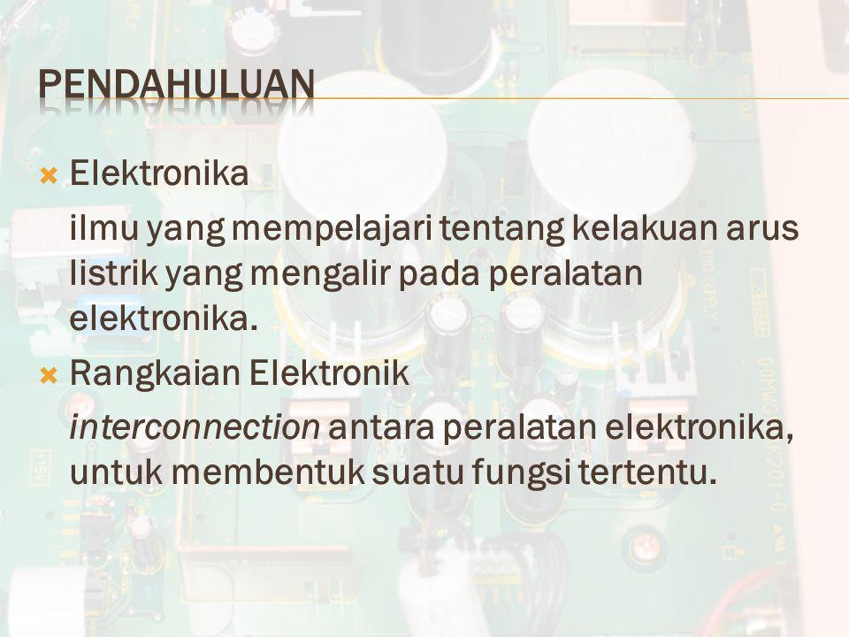 Pendahuluan Elektronika