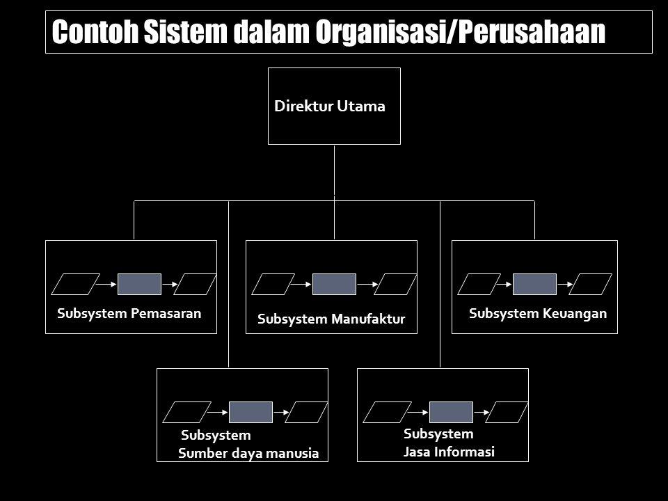 Contoh Sistem dalam Organisasi/Perusahaan