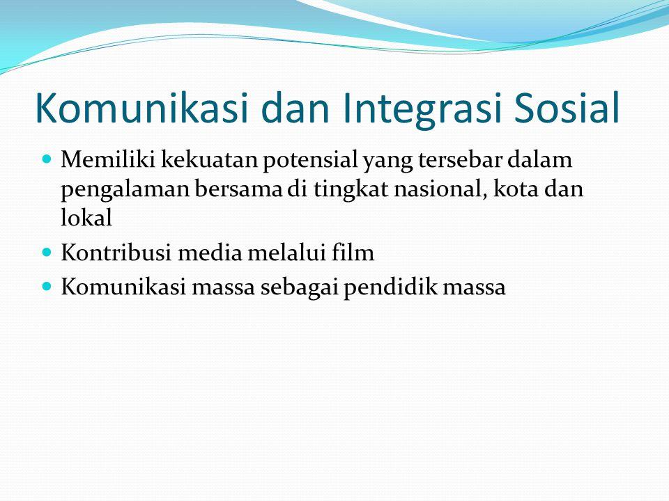 Komunikasi dan Integrasi Sosial