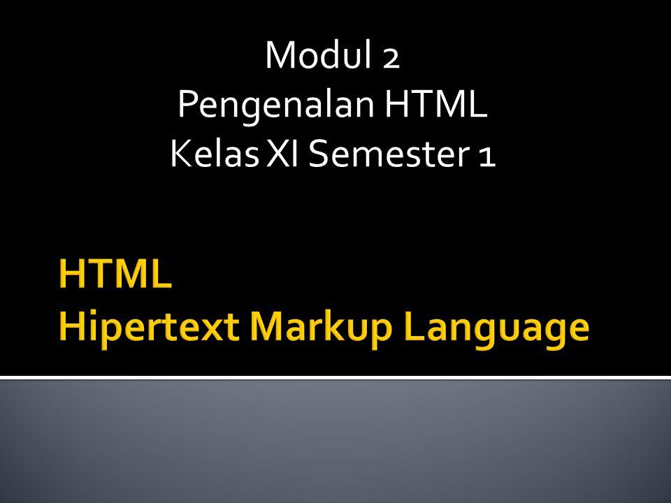 HTML Hipertext Markup Language