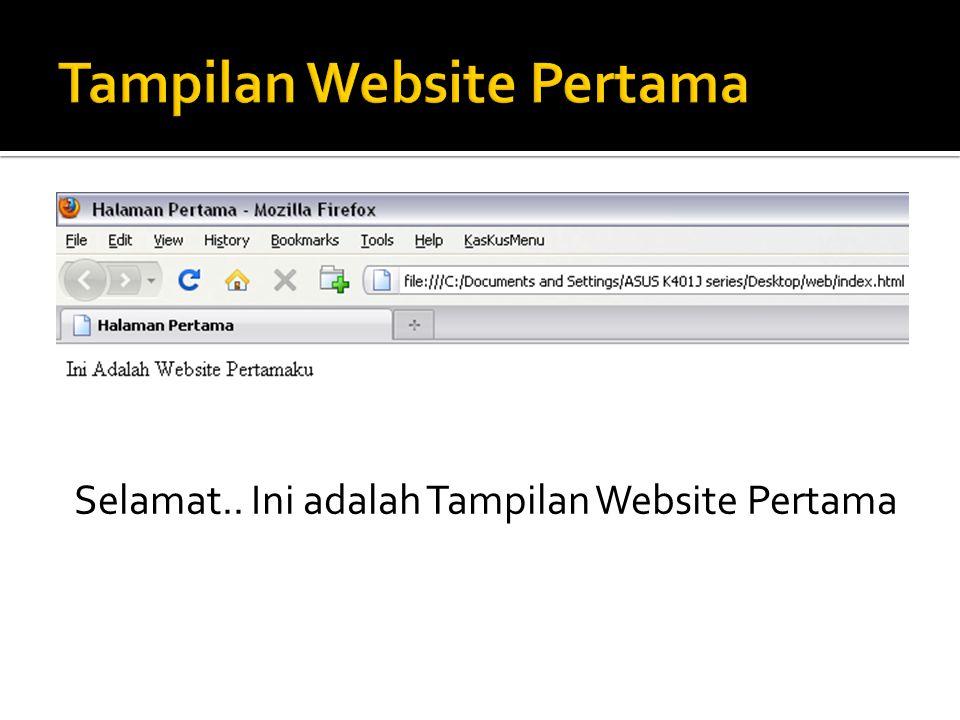 Tampilan Website Pertama