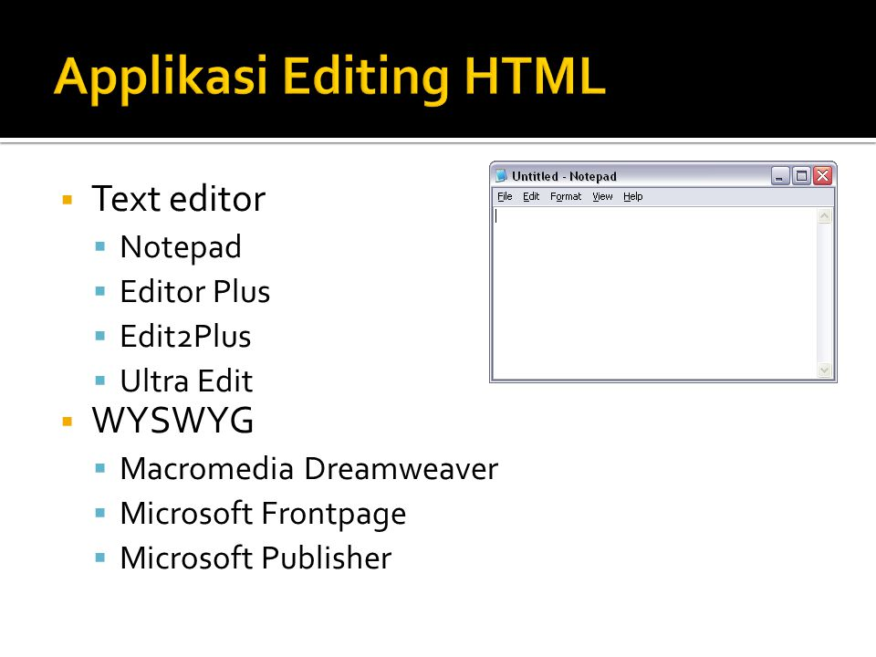 Applikasi Editing HTML
