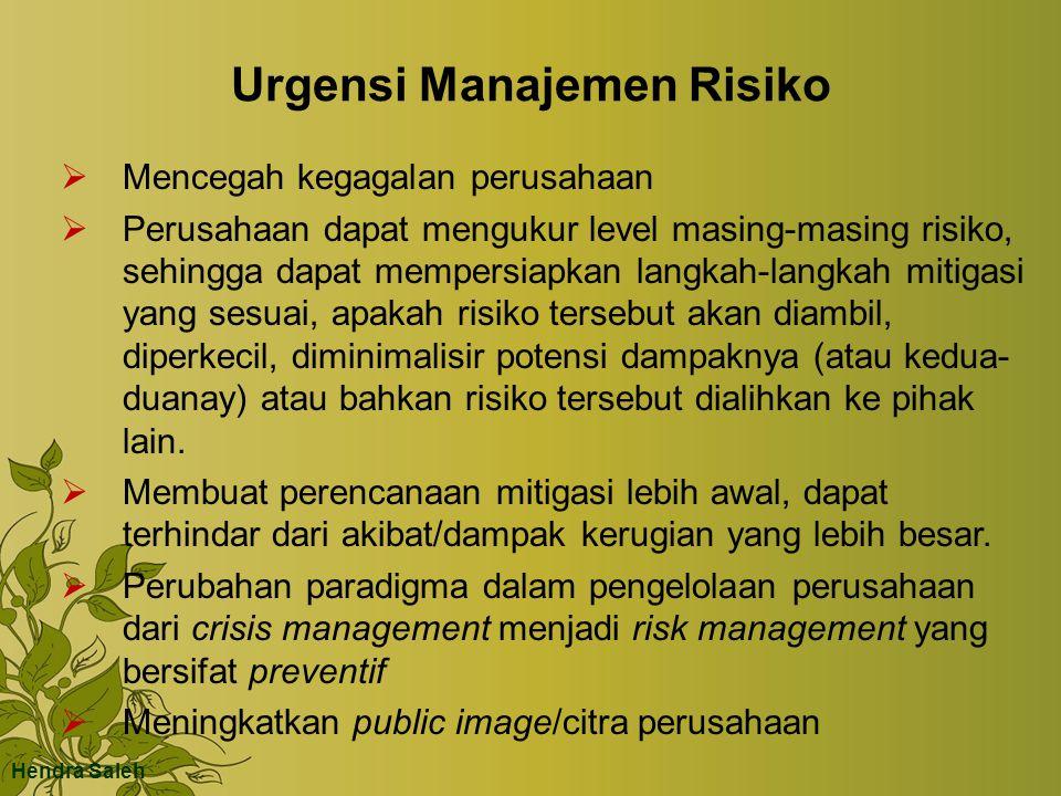 Urgensi Manajemen Risiko